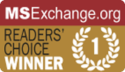2013 MSExchange - Readers' Choice Winner